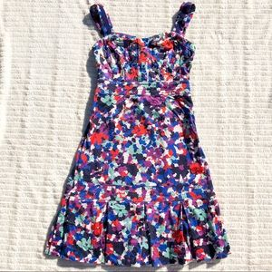 Tory Burch Berdine Floral Ribbon Strap Dress